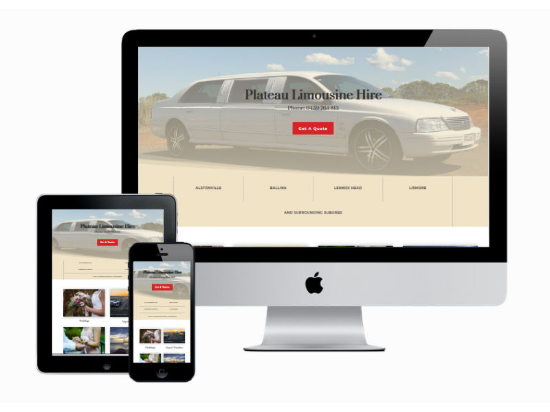 Plateau Limousine Hire - New Website Design