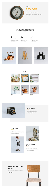 Boutique Shop Pre-made WordPress Website Design