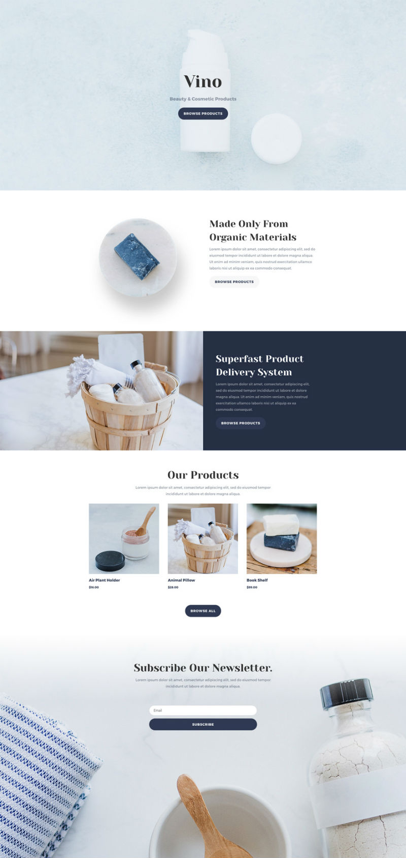 Cosmetic Shop Pre-made WordPress Website Design