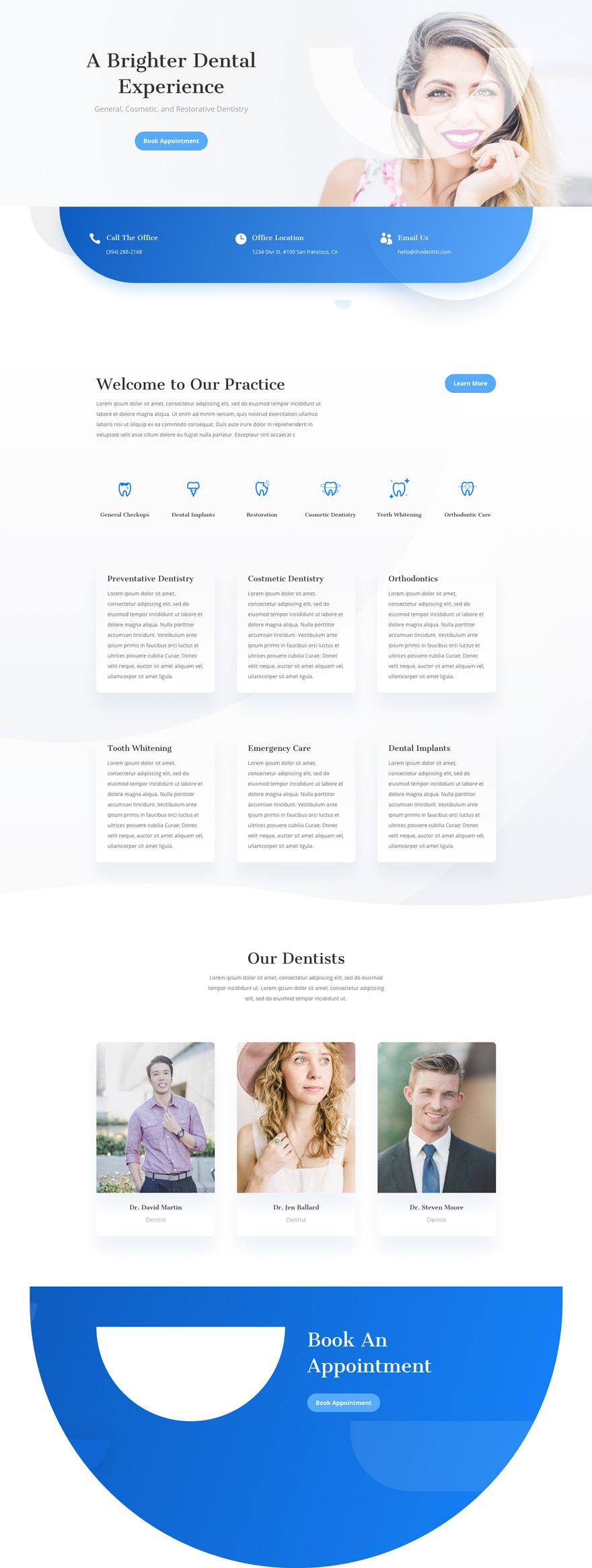 Dentist Pre-made WordPress Website Design