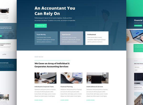 Accountant Pre-made Divi WordPress Website Design
