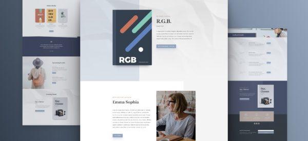 Author Pre-made Divi WordPress Website Design
