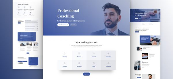Business Coach Pre-made Divi WordPress Website Design