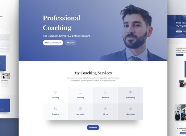 Business Coach Pre-made Divi WordPress Website Design