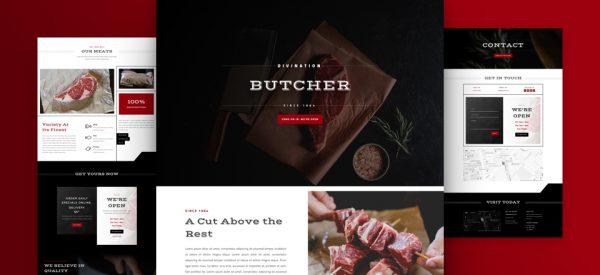Butcher Shop Pre-made Divi WordPress Website Design