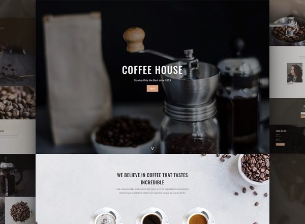 Coffee Shop Pre-made Divi WordPress Website Design