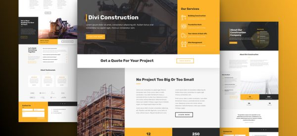 Construction Company Pre-made Divi WordPress Website Design