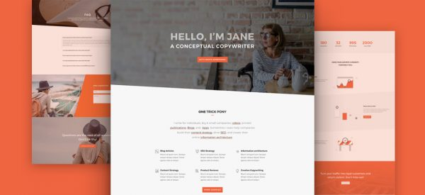 Copywriter Pre-made Divi WordPress Website Design