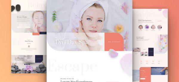 Day Spa Pre-made Divi WordPress Website Design