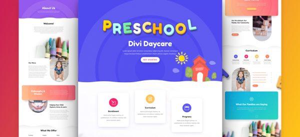 Daycare Pre-made Divi WordPress Website Design