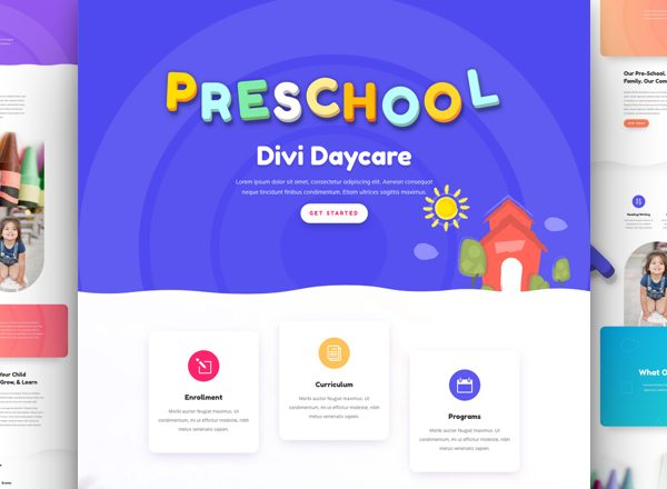 Daycare Pre-made Divi WordPress Website Design