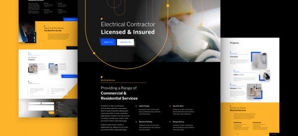 Electrician Pre-made Divi WordPress Website Design