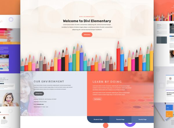 School Pre-made Divi WordPress Website Design