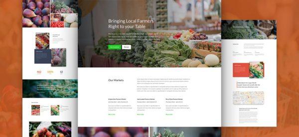 Farmers Market Pre-made Divi WordPress Website Design