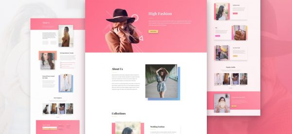 Fashion Shop Pre-made Divi WordPress Website Design