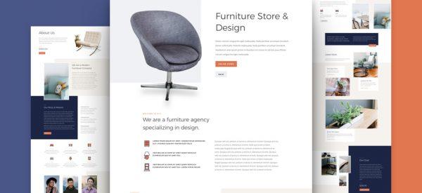 Furniture Store Pre-made Divi WordPress Website Design