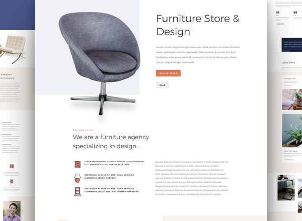 Furniture Store Pre-made Divi WordPress Website Design