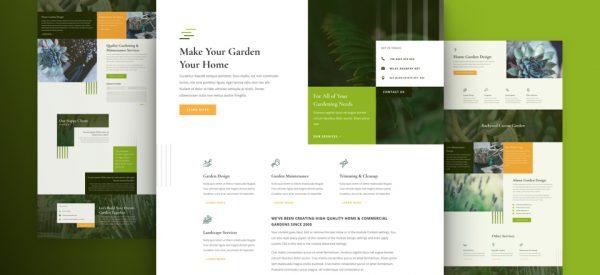 Gardener Services Pre-made Divi WordPress Website Design