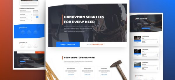 Handyman Services Pre-made Divi WordPress Website Design