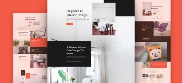 Interior Design Pre-made Divi WordPress Website Design