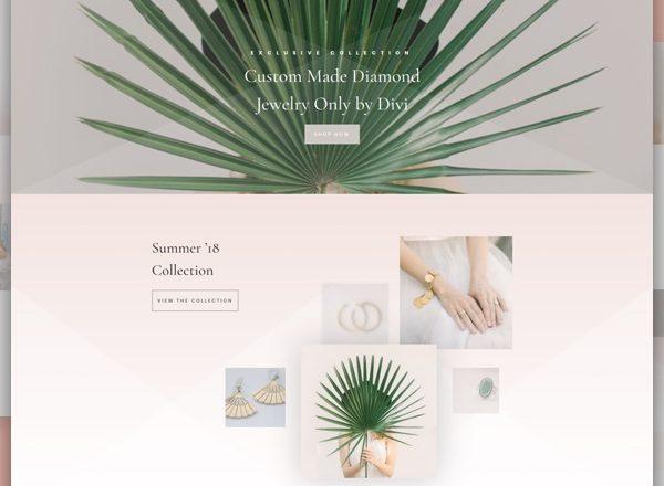Jewellery Shop Pre-made Divi WordPress Website Design