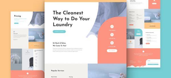 Laundry Services Pre-made Divi WordPress Website Design