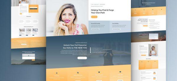 Life Coach Pre-made Divi WordPress Website Design