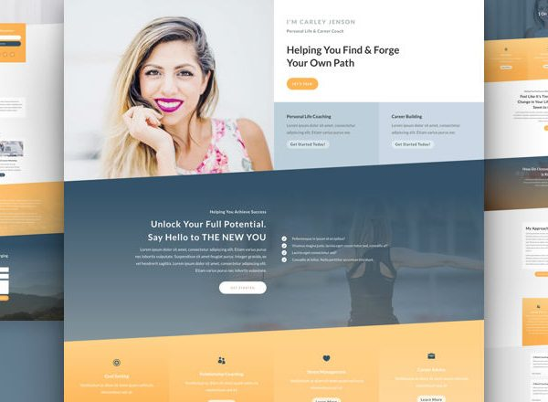 Life Coach Pre-made Divi WordPress Website Design