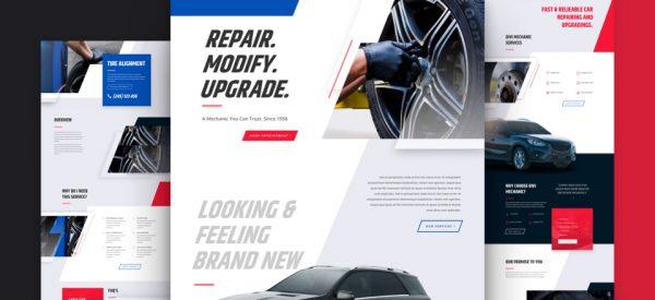 Mechanic Pre-made Divi WordPress Website Design
