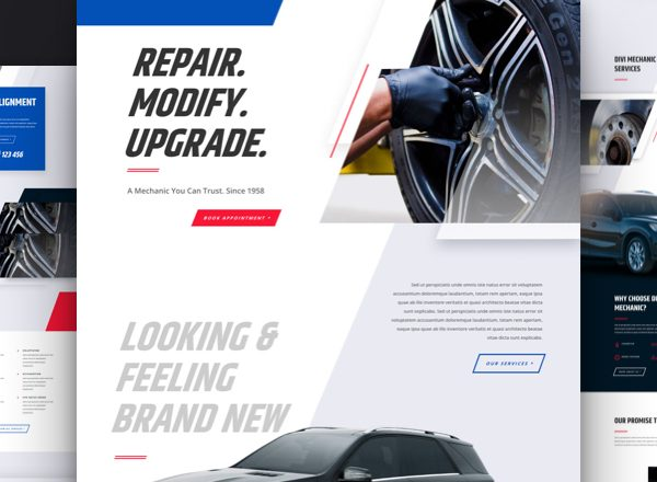 Mechanic Pre-made Divi WordPress Website Design