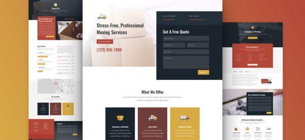 Moving Company Pre-made Divi WordPress Website Design