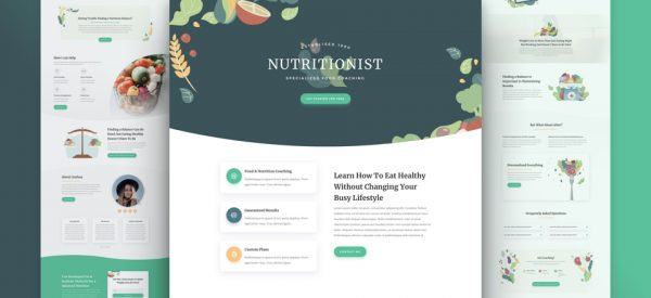 Nutritionist Pre-made Divi WordPress Website Design