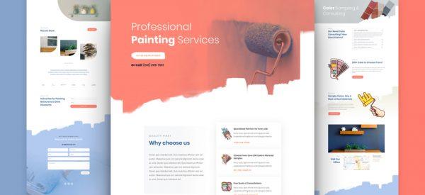 Painting Services Pre-made Divi WordPress Website Design
