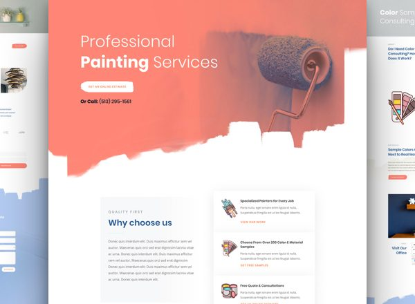Painting Services Pre-made Divi WordPress Website Design