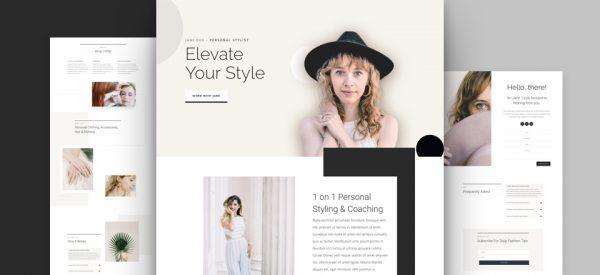 Personal Stylist Pre-made Divi WordPress Website Design
