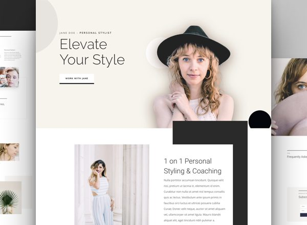 Personal Stylist Pre-made Divi WordPress Website Design