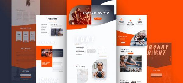 Personal Trainer Pre-made Divi WordPress Website Design