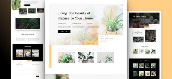 Plant Nursery Shop Pre-made Divi WordPress Website Design