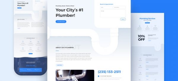 Plumber Pre-made Divi WordPress Website Design