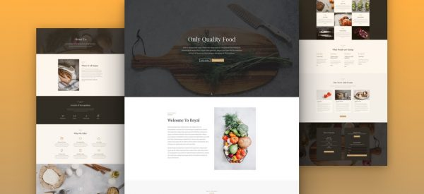 Restaurant Pre-made Divi WordPress Website Design