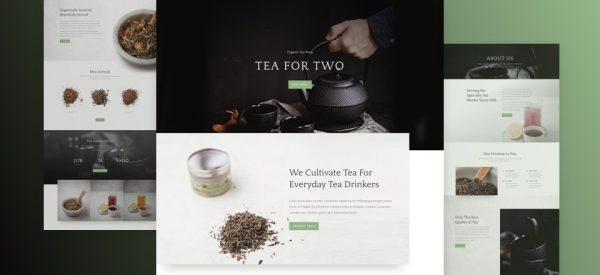 Tea Shop Pre-made Divi WordPress Website Design