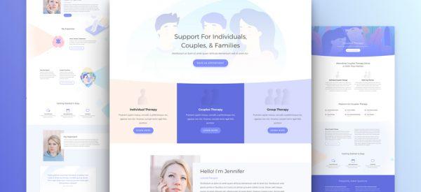 Therapist Pre-made Divi WordPress Website Design