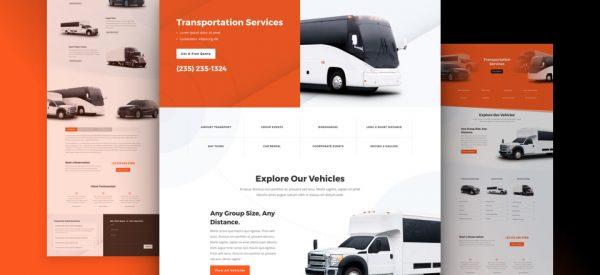 Transportation Pre-made Divi WordPress Website Design