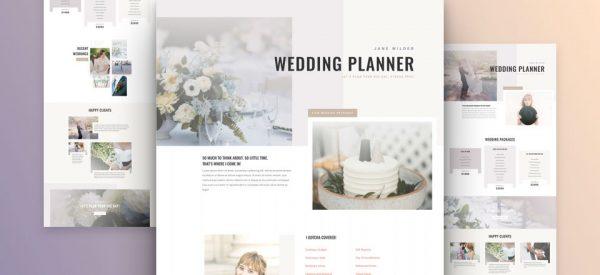 Wedding Planner Pre-made Divi WordPress Website Design