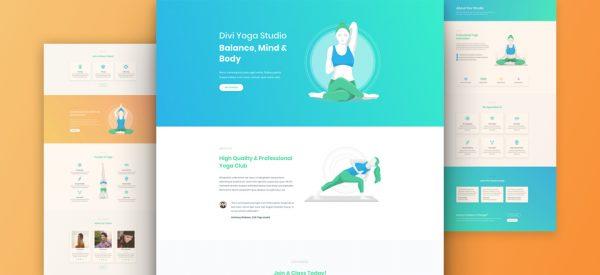 Yoga Studio Pre-made Divi WordPress Website Design