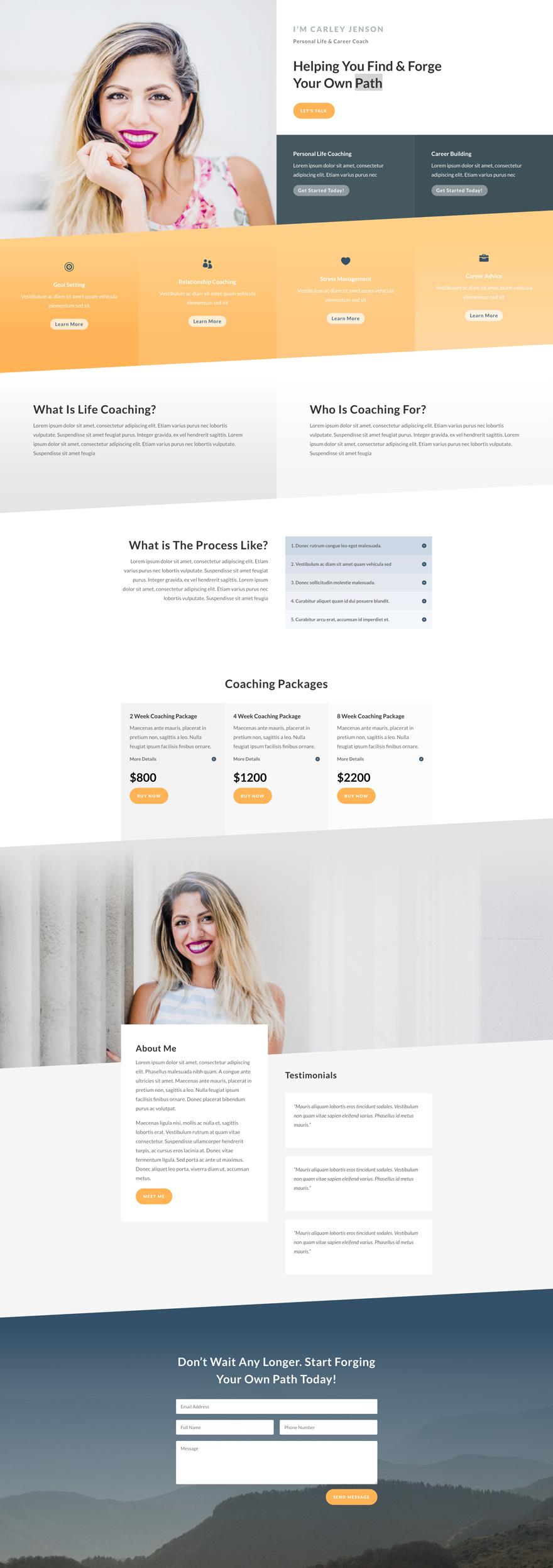 Life Coach Pre-made WordPress Website Design