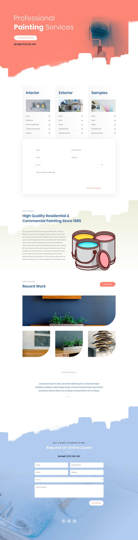 Painter Pre-made Divi WordPress Website Design