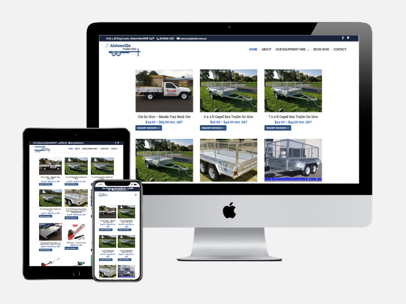 Alstonville Trailer Hire – New Website Design