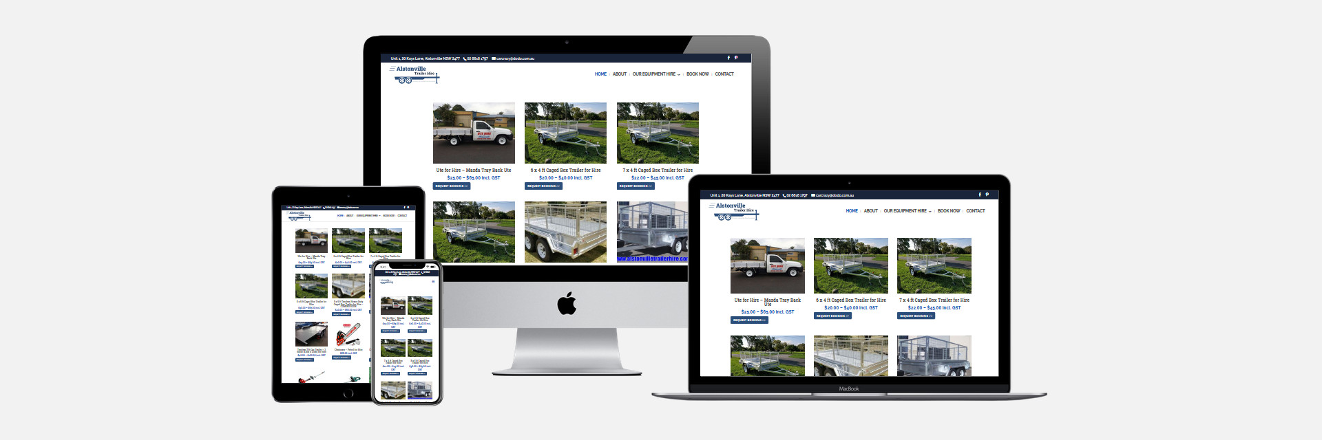 Alstonville Trailer Hire - New Website Design