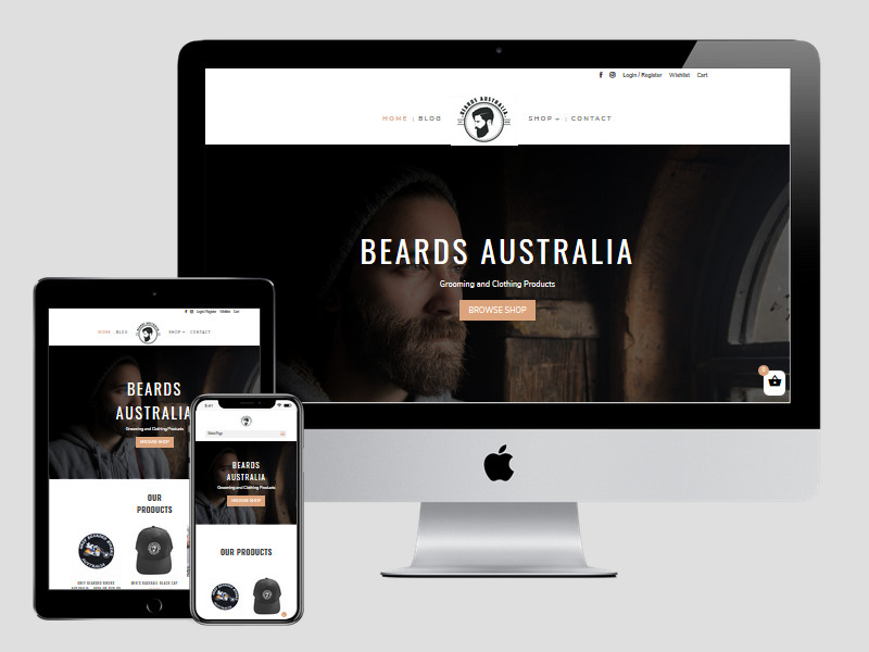 Beards Australia – New E-Commerce Website Design